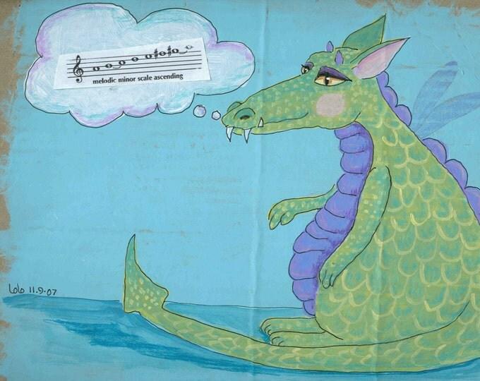 Phyllis the Dragon notecard