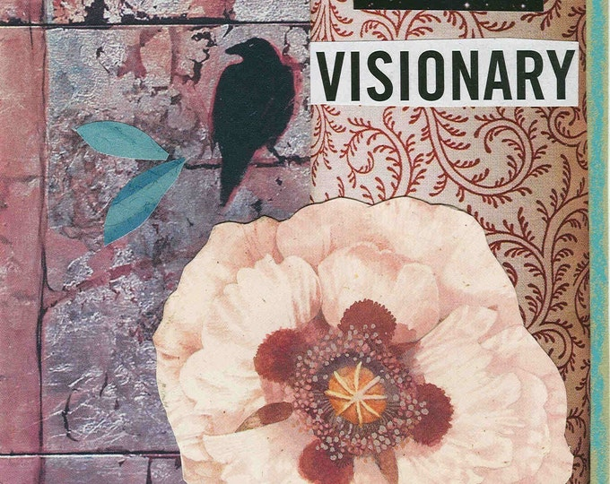 Raven Visionary blank greeting card