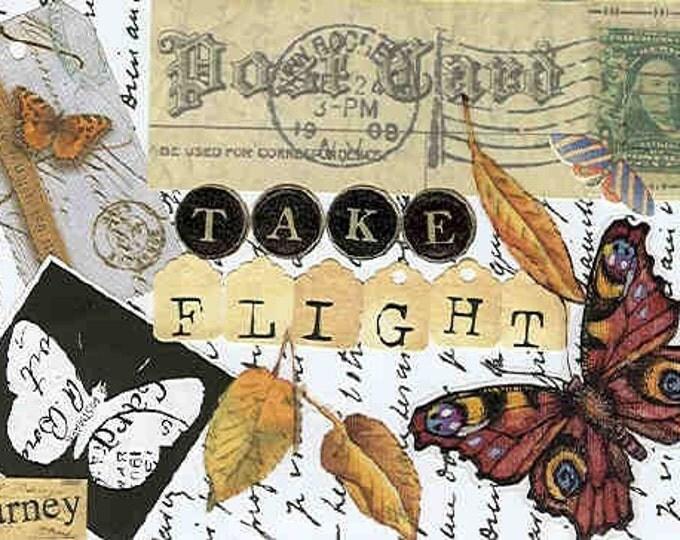 Take Flight blank greeting card