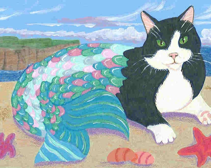 Purrmaid Series notecards