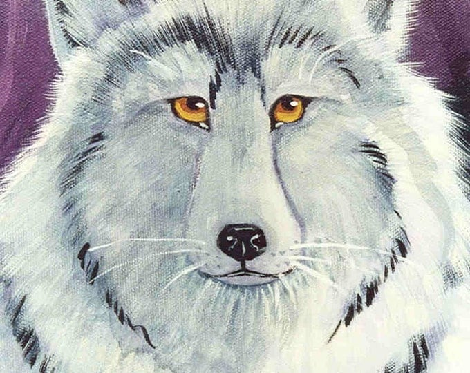 Lone Wolf blank greeting card
