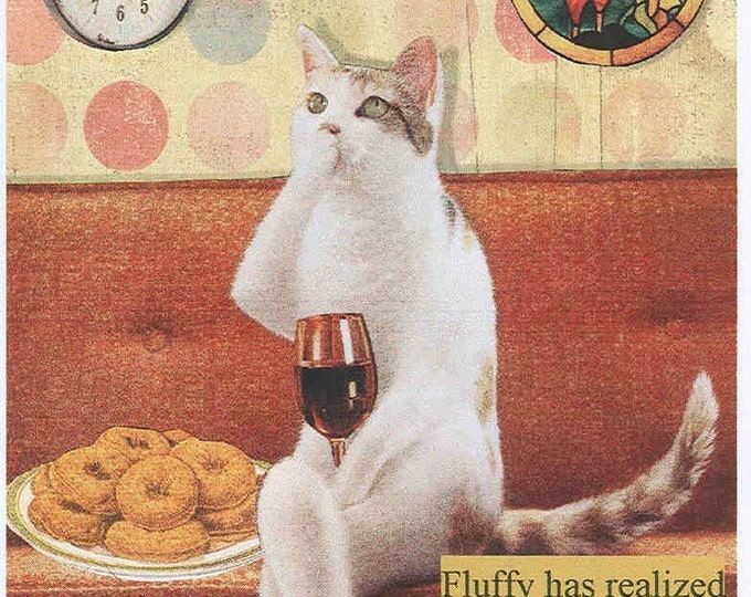 Wine Cat notecard