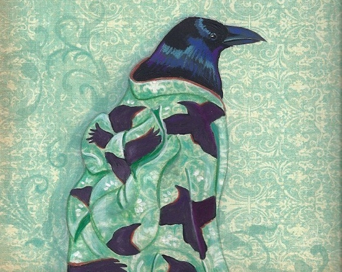 Corvid Kimono notecard