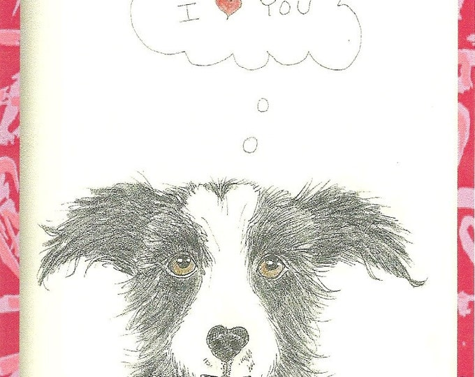 Loveable Mutt Blank love Card