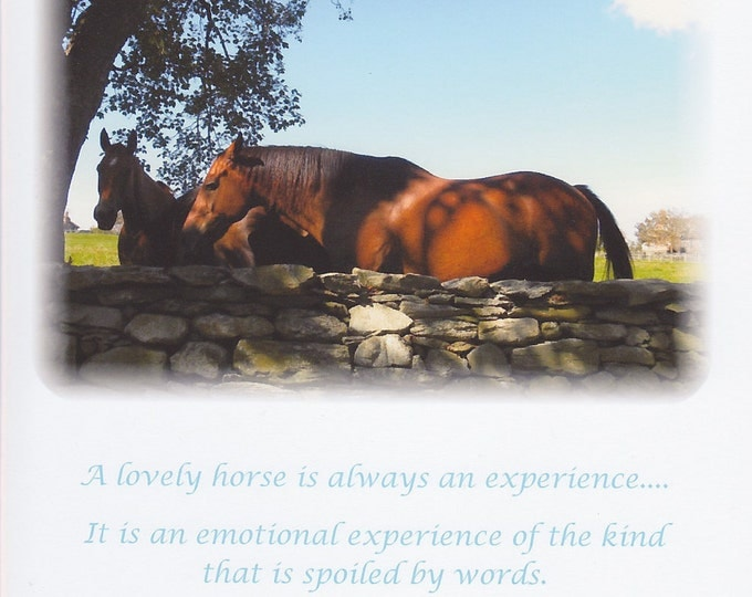 A Lovely Horse quote card