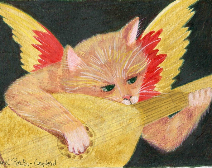 Rosso's cat greeting card