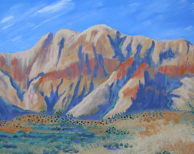 Red Rock Canyon blank greeting card