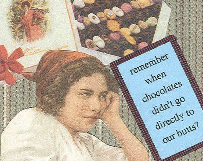 Big Butt Chocolates greeting card