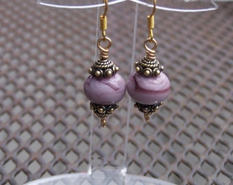 Lampwork and Gold-filled Earrings