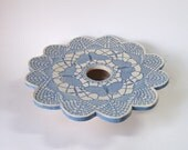 Butterfly Doily Ikebana Vase
