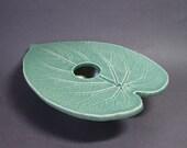 Heart Leaf Ikebana Vase . seafoam green