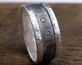 raindrops mokume gane  ring silver and copper