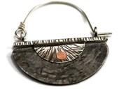 beer bottle cap earrings recycled Corona Beer cap in sterling silver steel copper