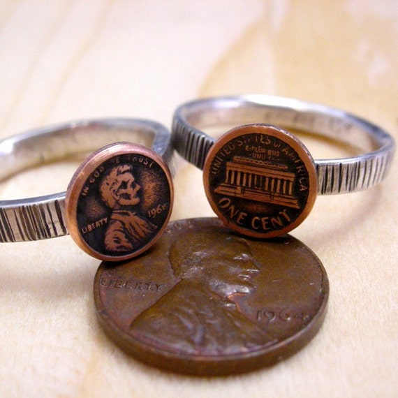 Honey, i shrunk the economy ring recycled sterling silver, copper