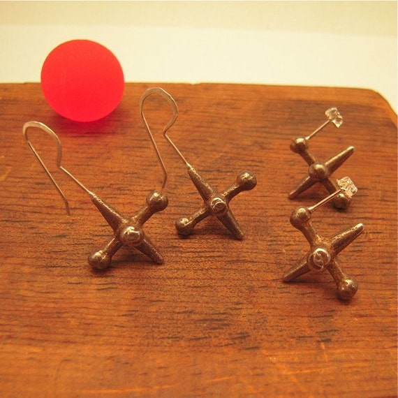 jacks earrings sterling silver steel