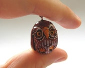 SALE Niilo the Bespectacled Owl Pendant