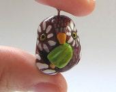 SALE Olli the Popsicle Owl Pendant