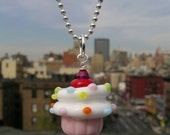 Vanilla Cupcake Necklace