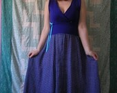 Verity reconstructed vintage purple dress S\/M - Clearance