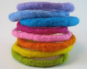 Felted Wool Bangles - Child & Adult sizes - PDF Tutorial