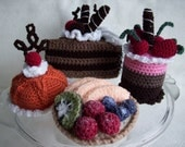 Fancy Cakes and Tarts...PDF Crochet Pattern