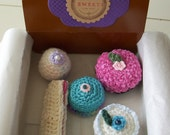 Crochet Sweets in Bakery Box....set 4