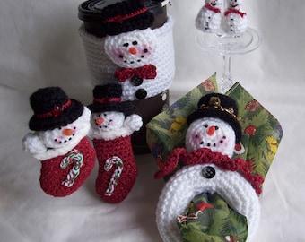 Snowman Set...PDF Crochet Pattern
