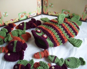 Fishy Fishy   PDF Crochet Pattern