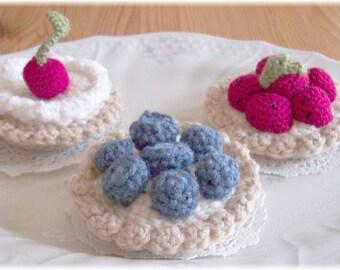 Vanilla Custard Fruit Tarts...PDF Pattern