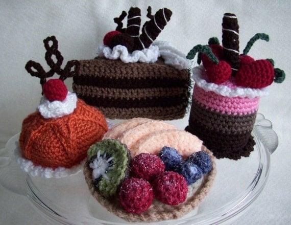 Fancy Cakes and Tarts...PDF Crochet Pattern