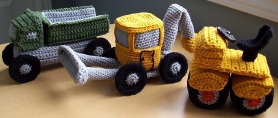Monster Trucks...PDF Crochet Pattern