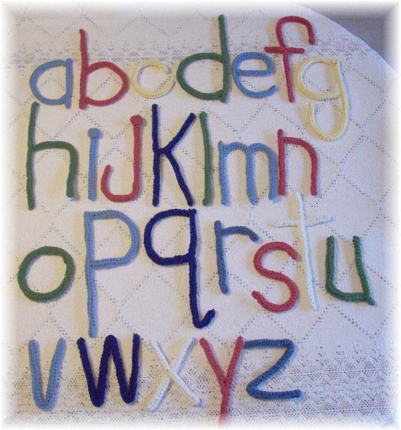 Crochet Pattern Alphabet : Crochet Alphabet ... PDF Pattern