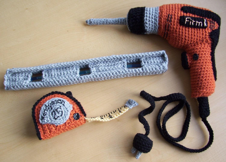 Amigurumi Crochet Tools : Carpenters Tools...PDF Crochet Pattern