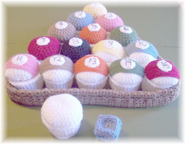 Crochet billiard ball cupcakes pdf pattern for Thread pool design pattern