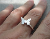 fine silver butterfly ring by kimberly nogueira