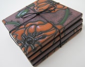 Deep Poppy Puzzle Coasters