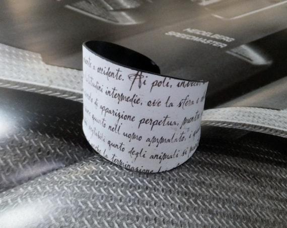 Eco Design Italian Lettering Vinyl Record Cuff