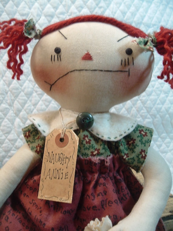 Primitive Naughty Raggedy Christmas Doll