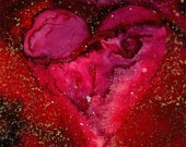 RESERVED for Fineraccents ....PASSION Heart 6 Original Fabric art painting EBSQ