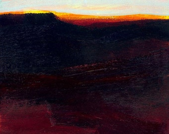 """Abstract Oil landscape painting, Art on VCanvas, """"FORGOTTEN WORLDS 9"""" Original Oil Contemporary by Kathy Morton Stanion EBSQ"""