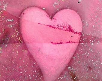 Love Unfolding 4 Original HEART Contemporary Modern art painting by Kathy Morton Stanion EBSQ