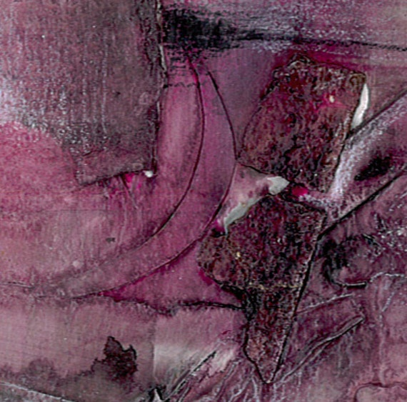 Fragments Of The Past 3 ...Original Mixed Media Aceo collage painting EBSQ ACEO ACETSY Team