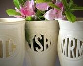 Custom Monogram Vase - RESERVED for avhill