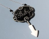 Maternity Pendant for the Mom to Be - Porcelain on Sterling Silver