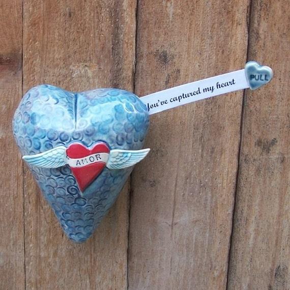 Secret Message Heart Sculpture