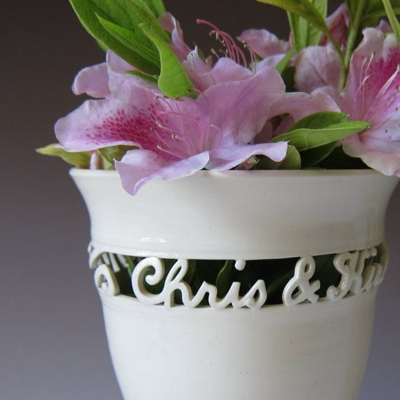 Personalised Vase Wedding Gift : ... Gifts Guest Books Portraits & Frames Wedding Favors All Gifts