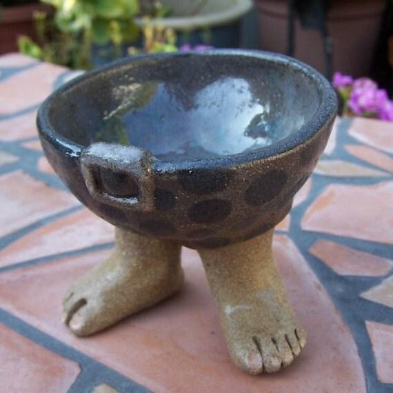 Ceramic Hobbit Foot Bowl