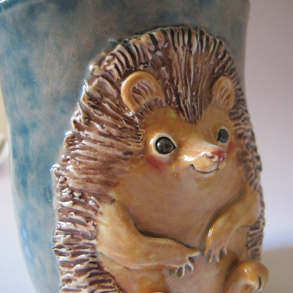 Sculpted Hedgehog Vase - RESERVED for Vermonterwannabe