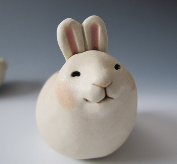 Vase - fat little bunny - sweet Easter or Spring gift