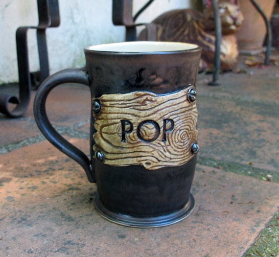 Rustic Pop Mug for Dad on Father's Day - Great gift for a carpenter or construction worker